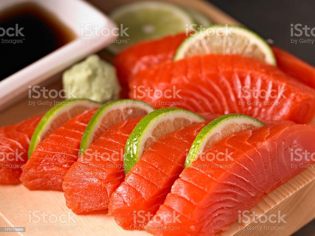 Salmon Sashimi royalty-free stock photo