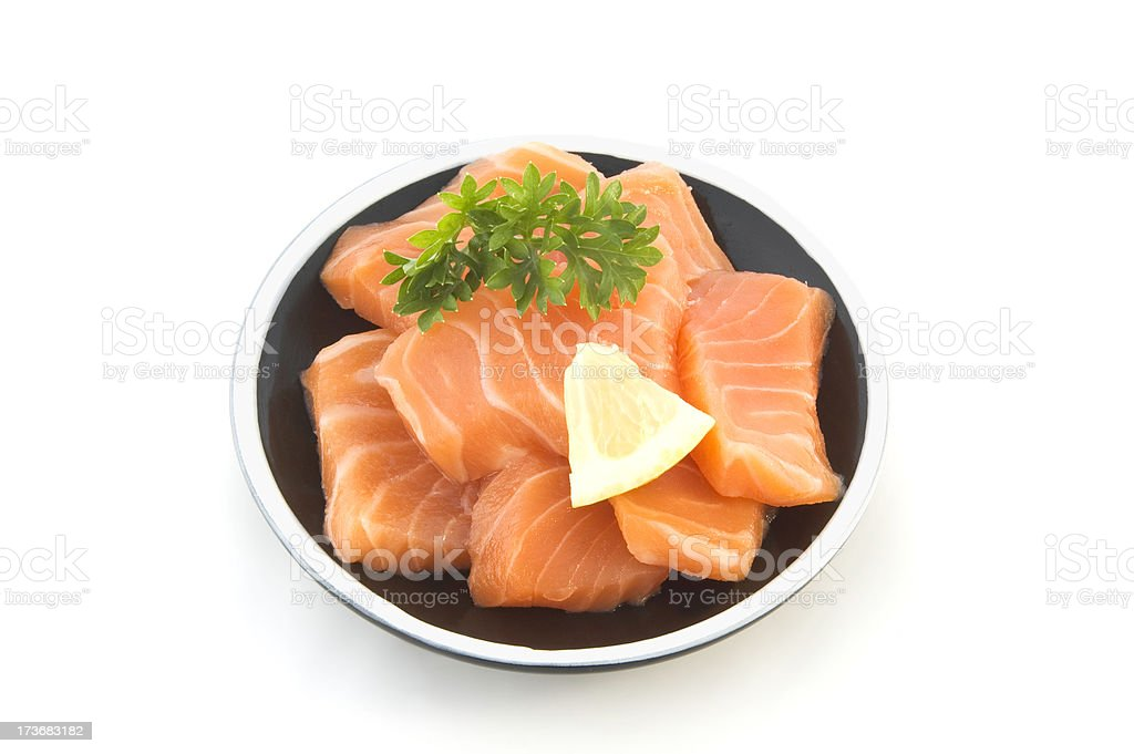 Salmon Sashimi royalty-free stock photo