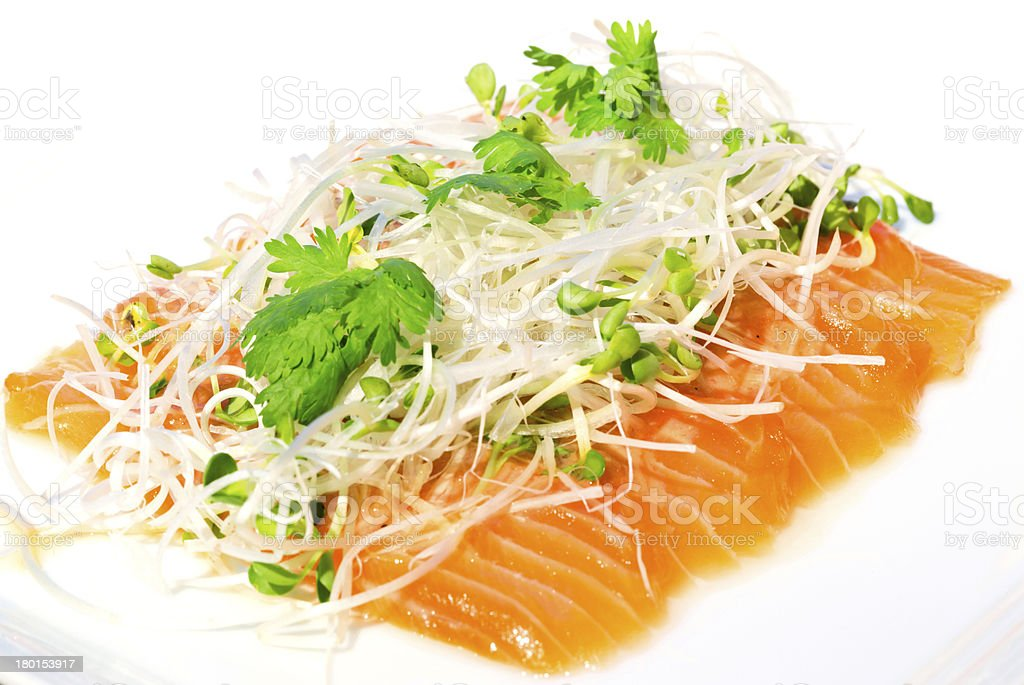 Salmon seshimi royalty-free stock photo