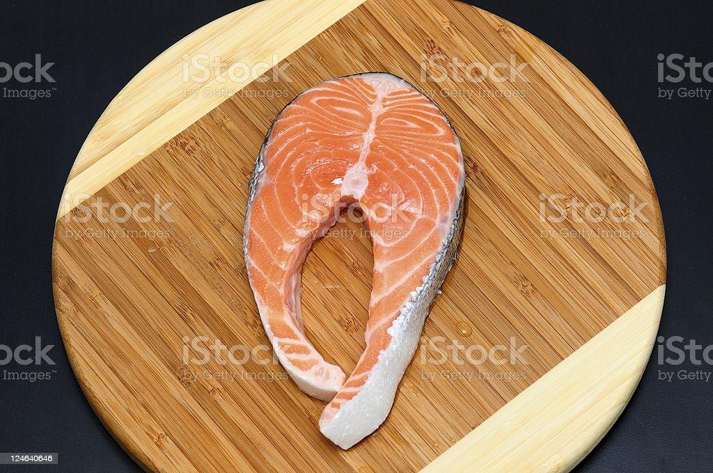 salmon slice royalty-free stock photo