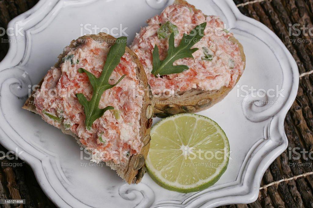 Salmon Spread Lime royalty-free stock photo