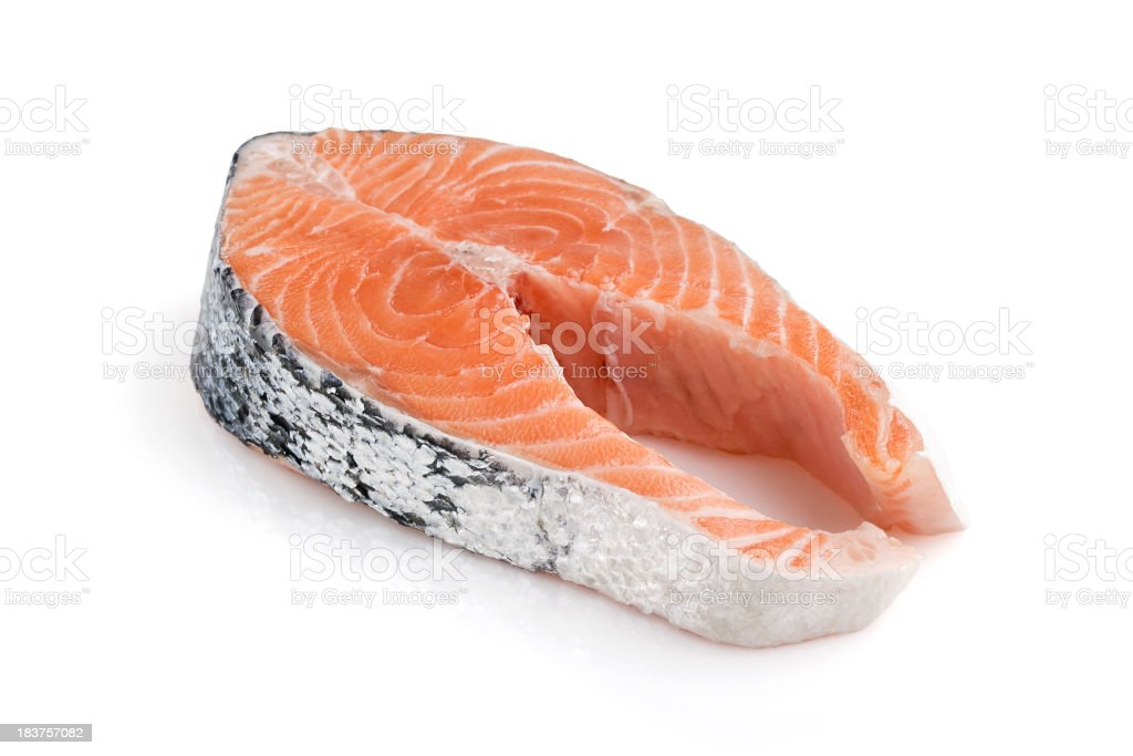 Salmon Steack stock photo