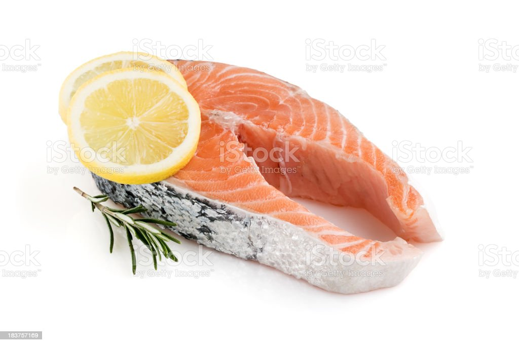 Salmon Steack stock photo