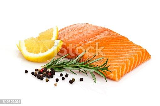 istock Salmon steak 629795254