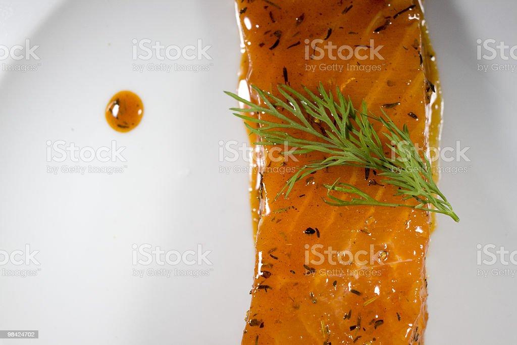 Salmon steak royalty-free stock photo