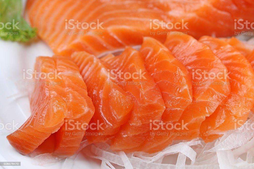 salmon steak red fish stock photo