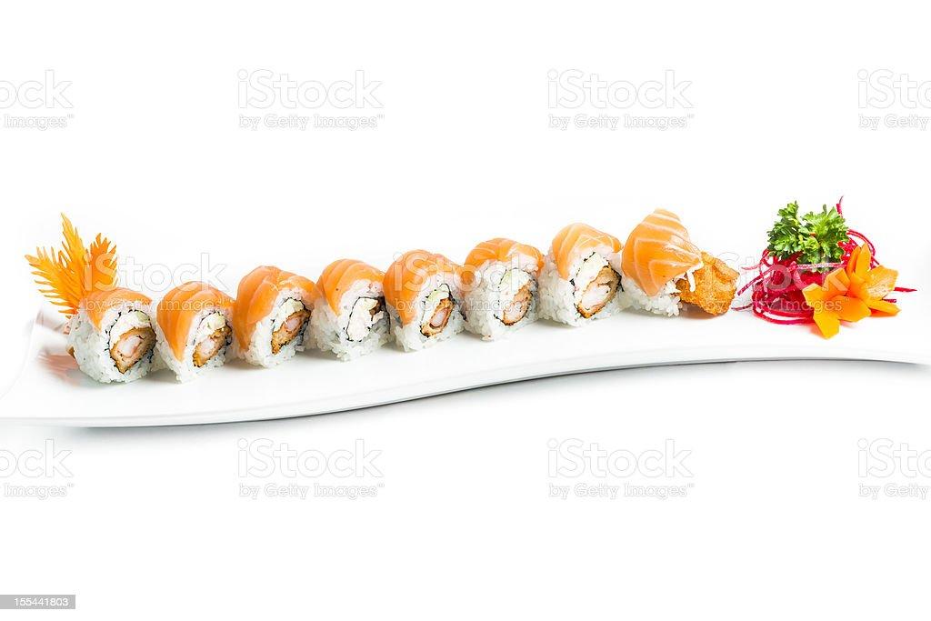 Salmon Sushi Maki royalty-free stock photo