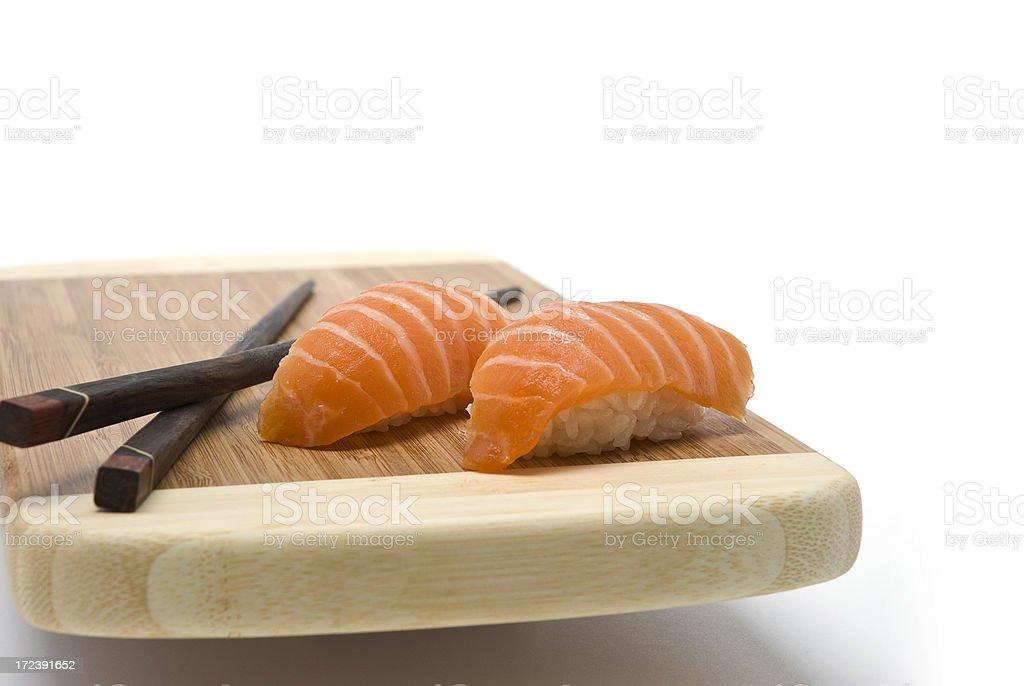 Salmon Sushi royalty-free stock photo