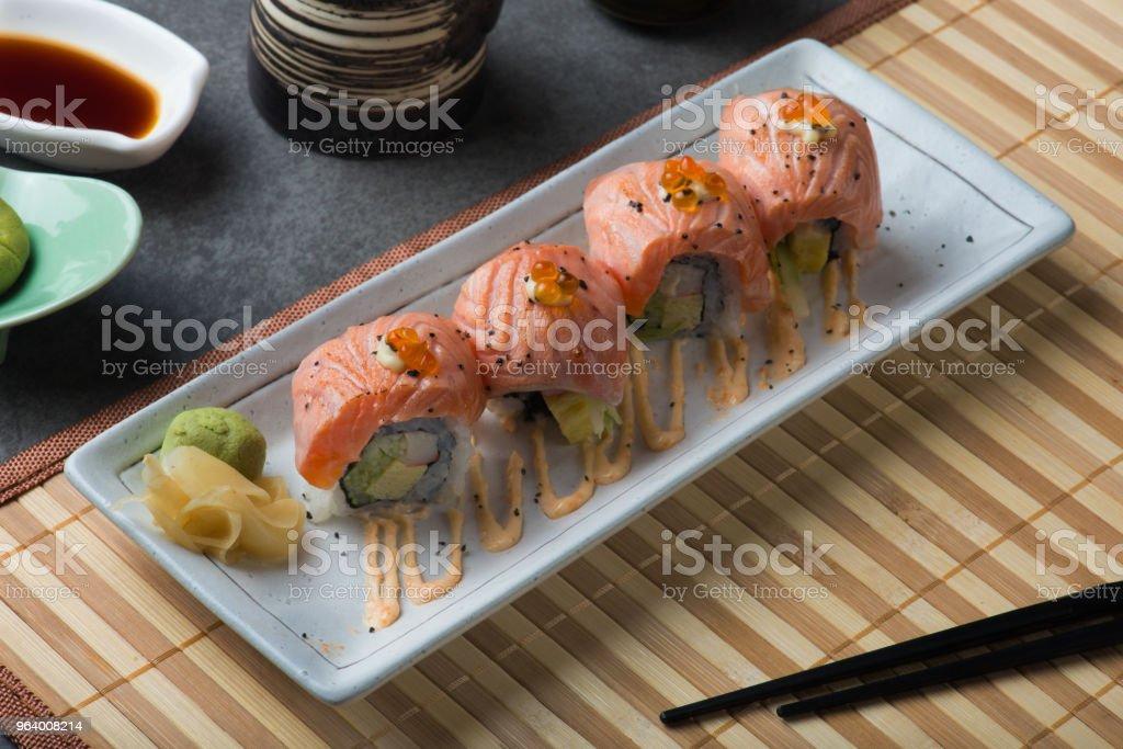 salmon sushi roll - Royalty-free Asia Stock Photo