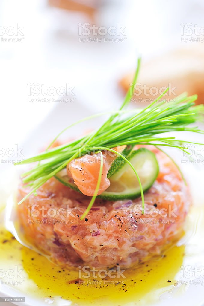 Salmon Tartare royalty-free stock photo