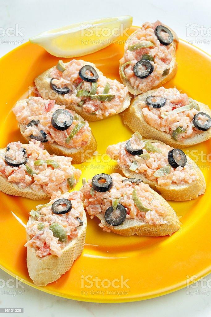 salmon tartare royalty-free stock photo