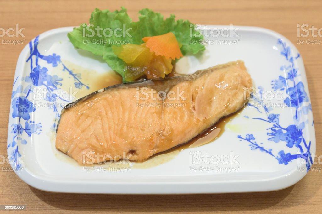 Salmon Teriyaki royalty-free stock photo