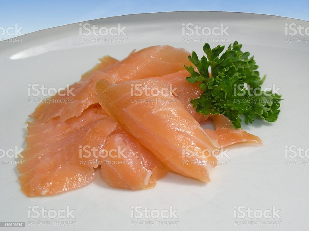 Salmon with Parsley royalty-free stock photo