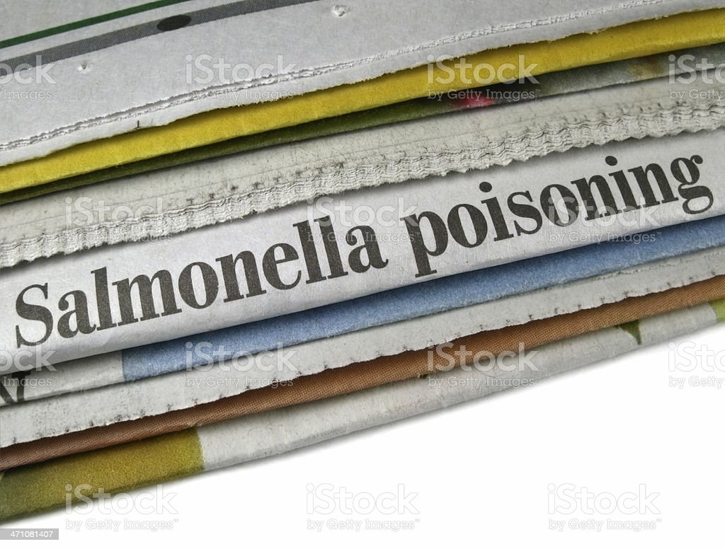 Salmonella Poisoning royalty-free stock photo