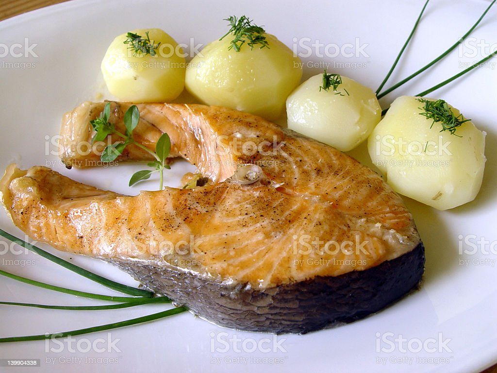 Salmons fillet stock photo