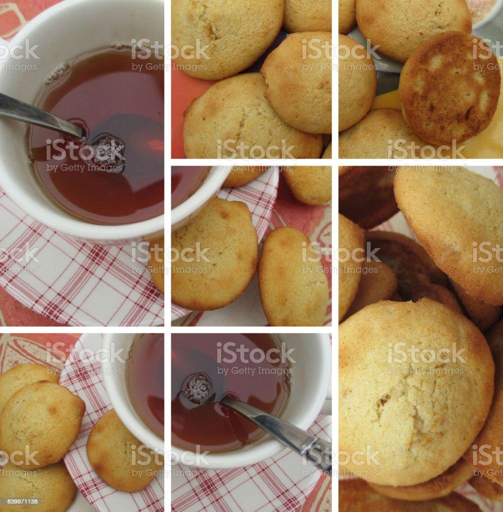 Salon de thé - Pâtisserie aux amandes stock photo