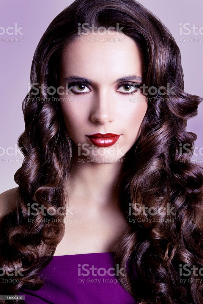 Salon Finish Hair royalty-free stock photo