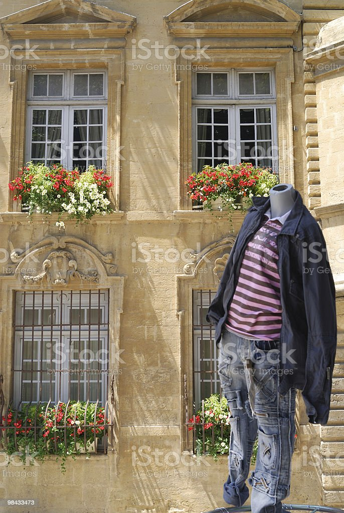 Salon-de-Provence (Provence, France) - Town hall and market royalty-free stock photo