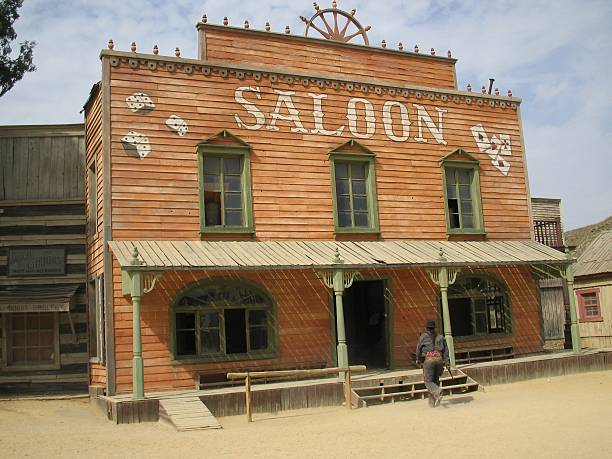 saloon ..:: far  west  series::.. - western town stock photos and pictures