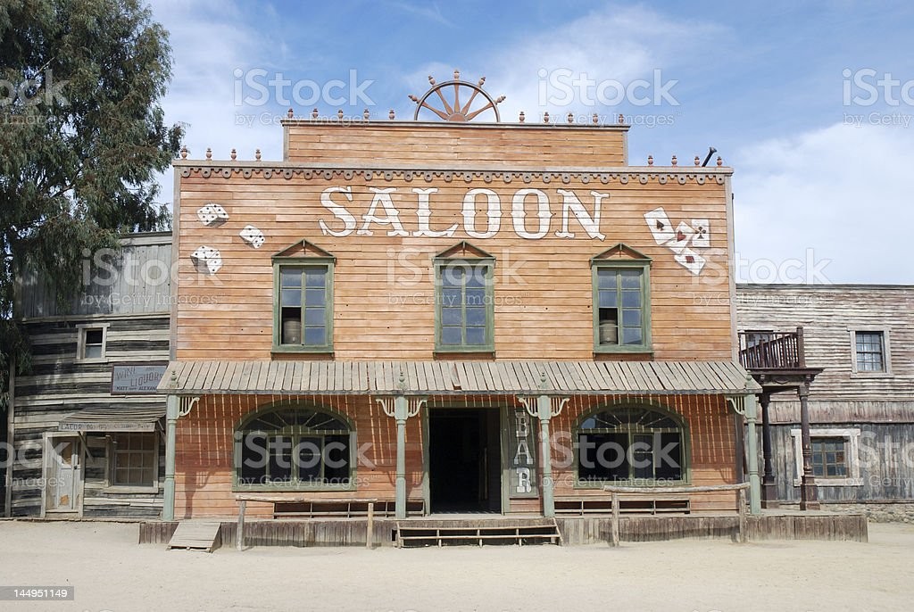 Saloon stock photo