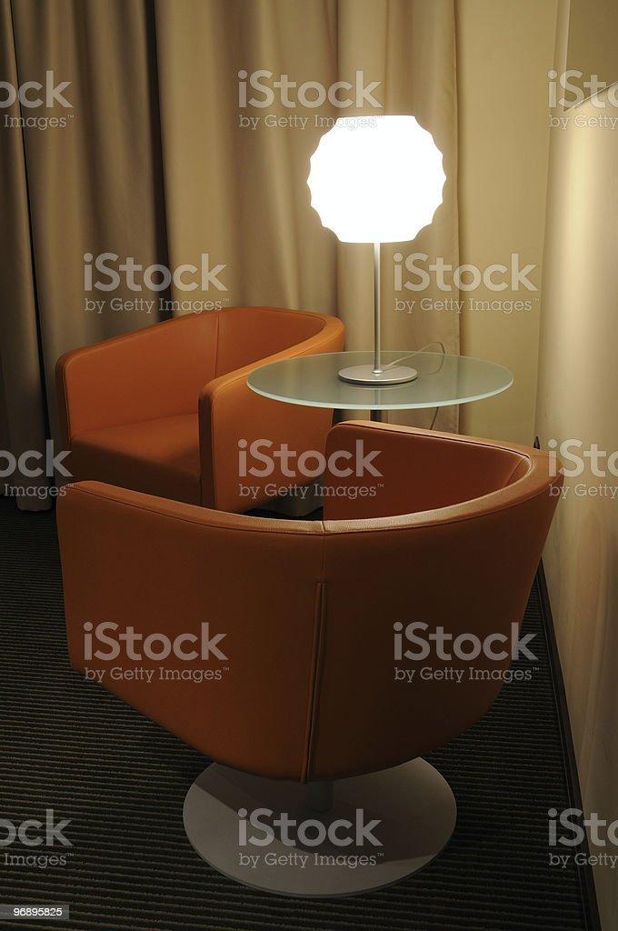 Salotto con lampada royalty-free stock photo