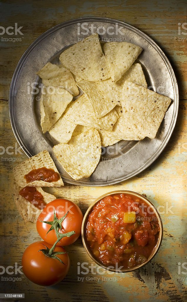 Salsa and Chips royalty-free stock photo