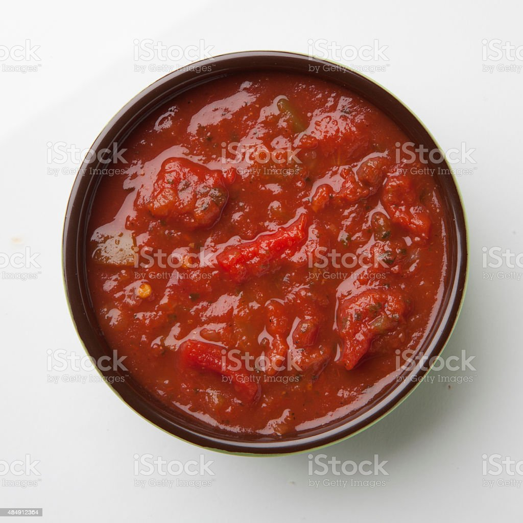 Salsa bowl stock photo