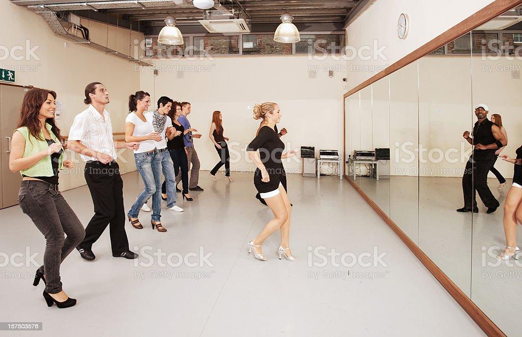 Salsa class stock photo