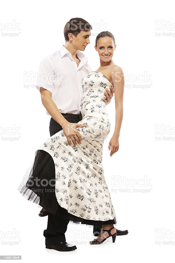 salsa dancers royalty-free stock photo