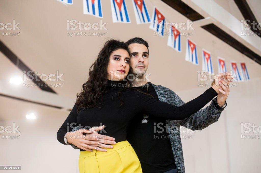 Salsa dancing stock photo