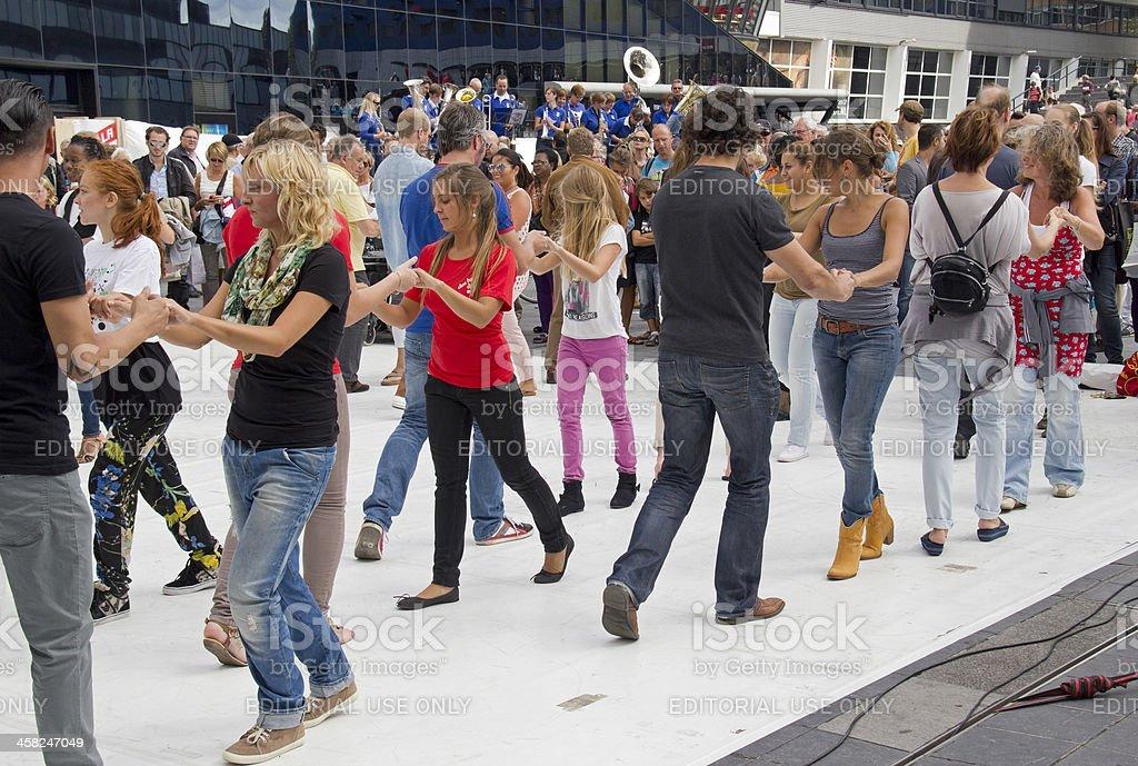 Salsa Dancing practice stock photo