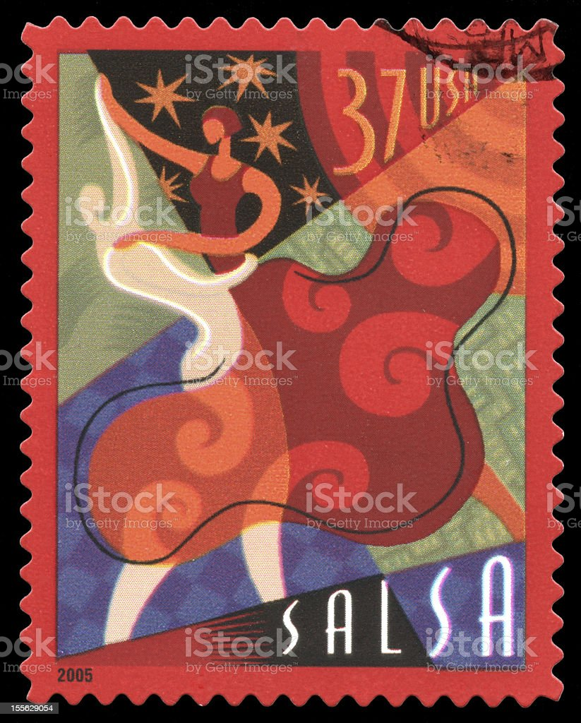 Salsa USA Postage Stamp royalty-free stock photo