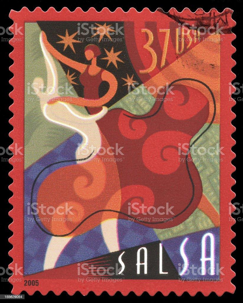 Salsa USA Postage Stamp stock photo
