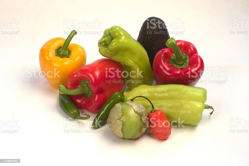salsa veggies stock photo