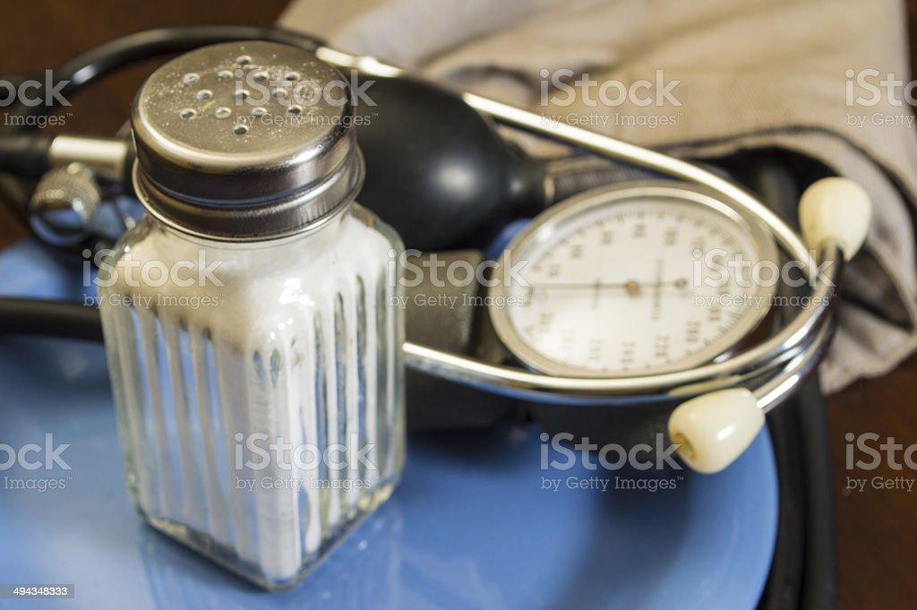 salt and blood pressure stock photo