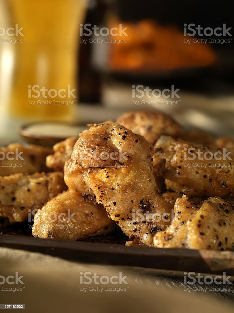 Salt and Pepper Buffalo Wings royalty-free stock photo