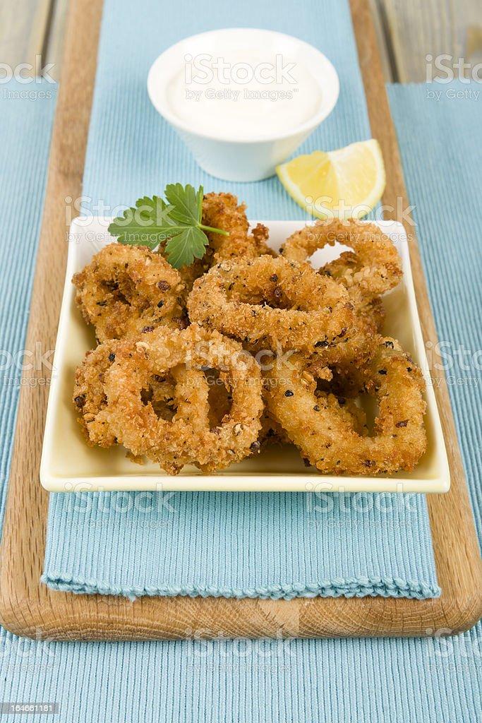 Salt and Pepper Calamari royalty-free stock photo