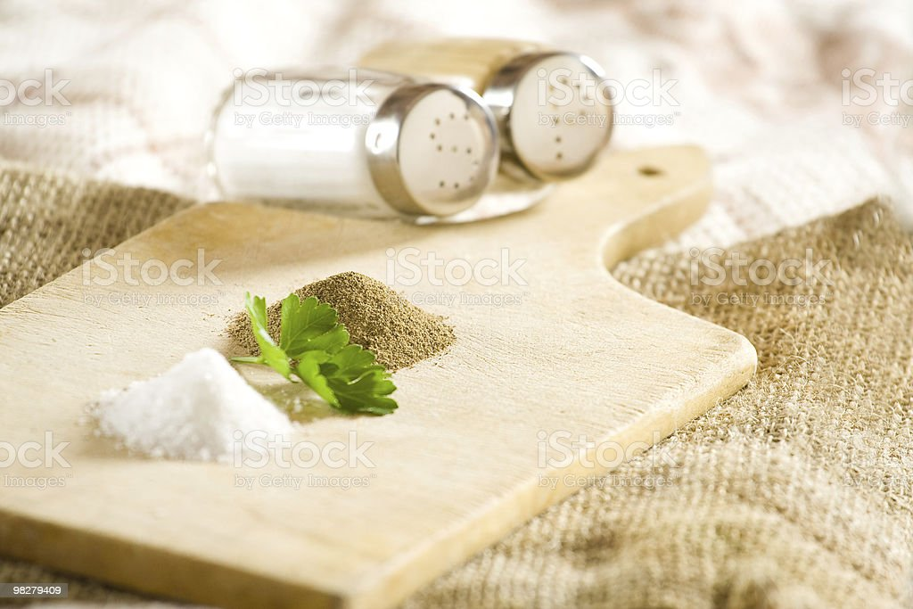 Salt and pepper royalty-free stock photo