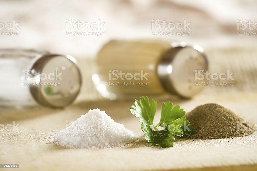 소금, 후추 royalty-free 스톡 사진