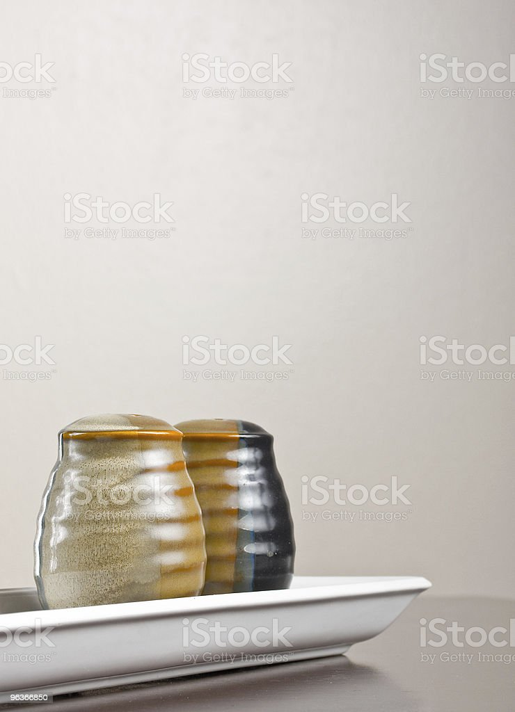 Salt and pepper shakers royalty-free stock photo