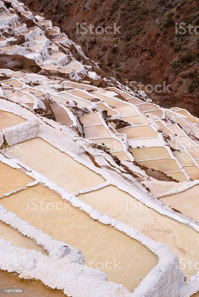 Salt basins on 3000m above sea level royalty-free stock photo