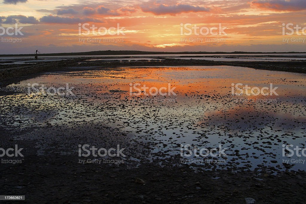Salt Cay Sunrise stock photo