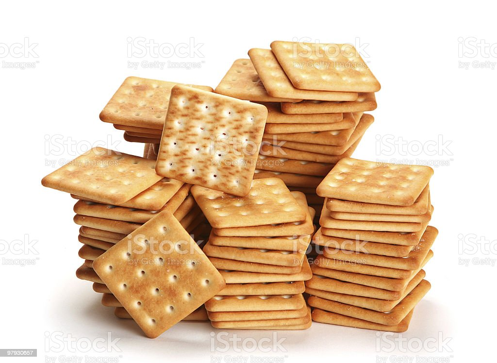 Salt crackers royalty-free stock photo