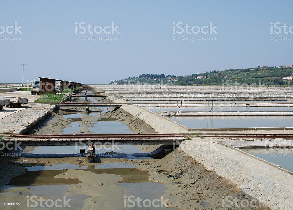 Salt Crystallization Field, Seca, Slovenia royalty-free stock photo