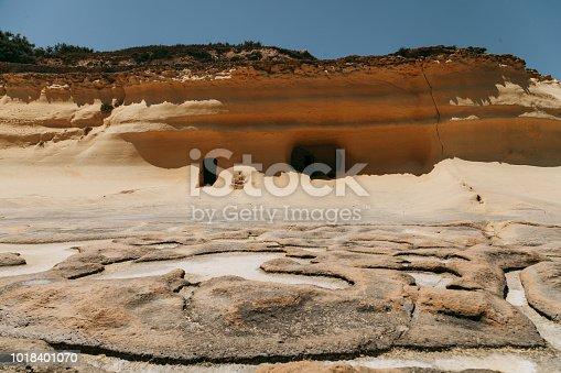 istock Salt evaporation ponds near Qbajjar on Gozo, Malta 1018401070