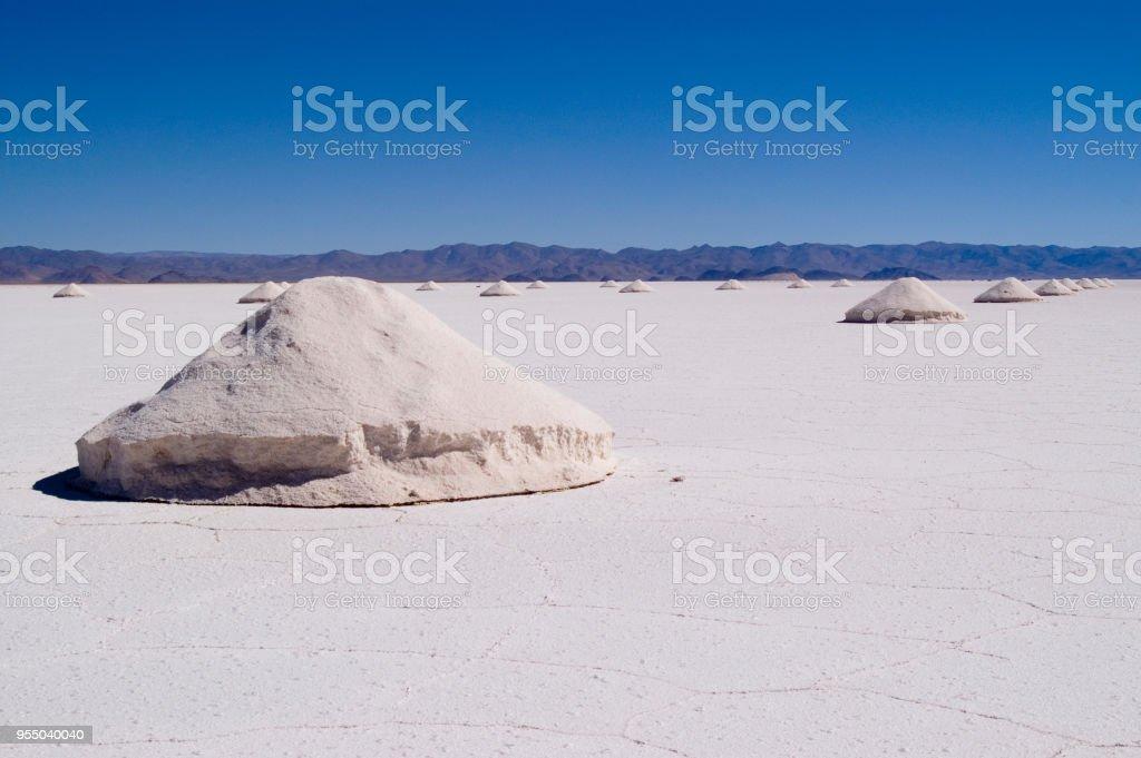 Salt Extraction stock photo