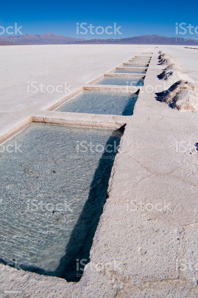 Salt Extraction Pools stock photo