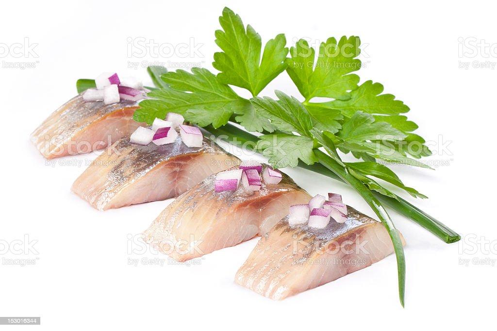 salt fillet herring royalty-free stock photo