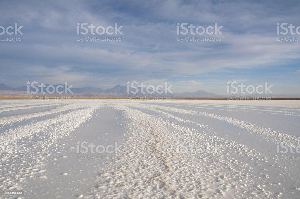 Salt flat of Atacama (Chile) stock photo