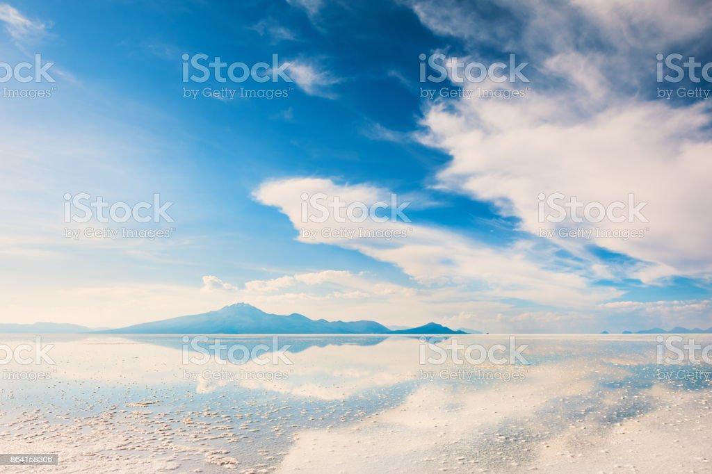 Salt flat Salar de Uyuni, Altiplano, Bolivia royalty-free stock photo